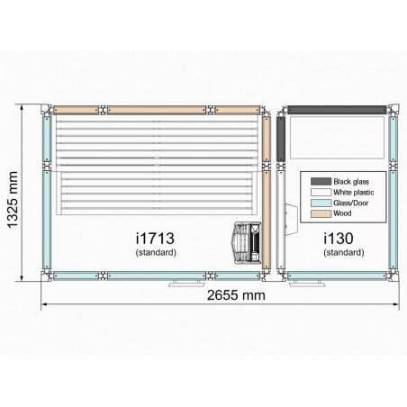 Cabina Twin 130/1309 Blanca